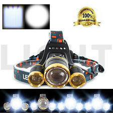 20000 Lumens Zoom LED Headlight  Torch Cree 3x XM-L T6 Headlamp Head Light  Lamp