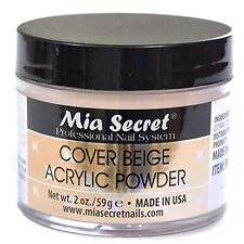 Mia Secret Cover Beige Acrylic Powder 2 oz Nail Bed
