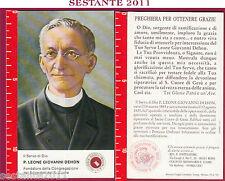 285 SANTINO HOLY CARD SERVO DI DIO P. LEONE GIOVANNI DEHON RELIQUIA