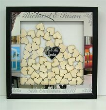 Wedding Guest Book Alternative Drop Box Hearts Personalised Keepsake fz5