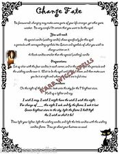 Change Fate Destiny Spell 1pg fr Wicca Book of Shadows Pagan Witchcraft Rituals