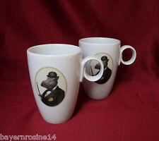 Tafelstern Porzellan 6 x Kaffeebecher Becher 0,25 L witziges Dekor Nilpferd NEU