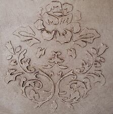 BUY NOW Raised Plaster Stencil Rose Damask, Wall Stencil, Damask Stencil