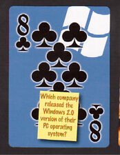 Microsoft Issues Windows 2.0 Operating System Neat Playing Card #7Y8