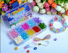 160pcs Mix Color Shining Crystal Pearl Jewelry Beads Set For Kids Crafts DIY Set