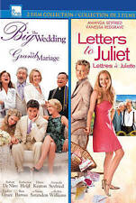 The Big Wedding/Letters to Juliet (DVD, 2014, 2-Disc Set, Canadian) NEW