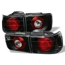 Pair Euro Altezza Tail Lights Lamps 4 Door Honda Accord 92-93 Black 1 Yr Warrant