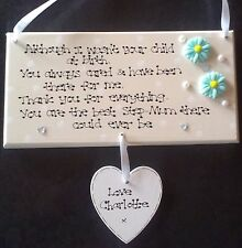 Personalised Not Child at Birth Special Step Mum Foster Mother Poem Gift Plaque