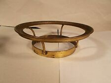 Vintage Brass Prism 6 inch Shade Ring for Oil/Gas Lamp Burner circa 1880+