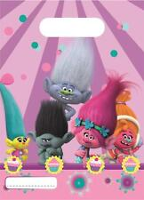 Dreamworks Trolls Plastic Party Loot Bags x 6