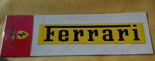 FERRARI STICKER YELLOW OFFICIAL LICENSED PRODUCT FORMULA 1 F1 ITALIA 18x4cm BNIP