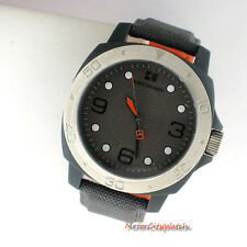 Boss Orange Hugo Boss by Movado Mens Leather Analog 3 Hand 1512666 Gray Watch