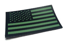 Infrared US Flag Patch IR US Army Navy USN USAF SEAL Green VELCRO® Brand