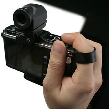 GARIZ Leather Camera Finger Strap Black for Sony Alpha NEX LEICA FUJI PEN LUMIX