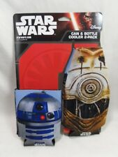 Disney Star Wars Can & Bottle Koozies Cooler R2-D2 C-3PO