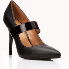 NIB Forever 21 BLACK Mary Jane Maryjanes Minimalist Pumps Heels Shoes 7.5