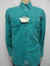 MEN'S LEVI'S TEAL COTTON L/S BUTTON DOWN CAUSUAL SHIRT SIZE: M (NWT)