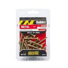 Buildex COUNTERSUNK TREATED PINE TEK SCREWS 10-24x40mm 25 Pieces *Aust Brand