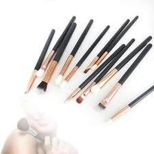 12pcs Professional Soft Cosmetic Eyebrow Shadow Eyeliner Makeup Brush Set Kit C3