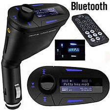 Wireless Bluetooth Car Kit LCD FM Transmitter Modulator USB SD MMC MP3 Remote