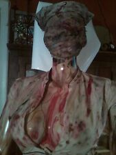 "SILENT HILL NURSE ZOMBIE PROP LIFESIZE  MANNEQUIN 5'10"" SCARY HALLOWEEN PROP"