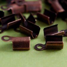 100pcs Antique Copper finish large Cord Tip End Caps