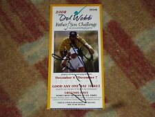 Greg Norman & Gregory Norman Signed 2008 Father Son Challenge Golf Ticket COA