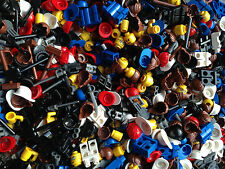 LEGO Random Mix Accessories Hair Tools Weapons Hats Visors Legs Heads  50 Pieces