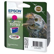Epson Stylet Claria Photographie T0793 Cartouche D'encre Imprimante Jet Magenta