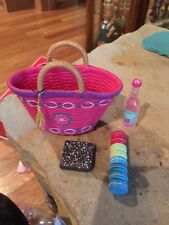 American Girl doll Basket And Food Items