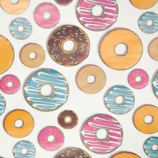 UNISEX childrens birthday gift wrap wrapping paper 2 large sheets Donut Doughnut