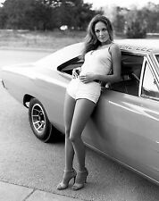 THE DUKES OF HAZZARD CATHERINE BACH DAISY DUKE 8X10 PHOTO GENERAL LEE 1969 DODGE
