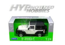 WELLY 1:24 2007 JEEP WRANGLER DIE-CAST WHITE 22489HW-WH