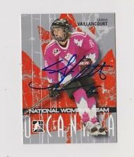 ITG O Canada Sarah Vaillancourt Team Canada Women's Hockey Autographed Card