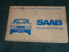 1976 SAAB OWNER'S MANUAL / ORIGINAL GUIDE BOOK!