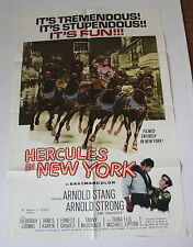 HERCULES IN NEW YORK MOVIE POSTER 1 SH ARNOLD STRONG SCHWARZENEGGER'S FIRST FILM