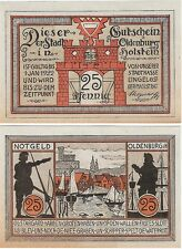 Germany 25 Pfennig 1922 Notgeld Oldenburg UNC Uncirculated Banknote