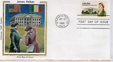 FDC Sc#1936 James Hoban 20c Oct 13 1981 Colorano Silk cachet
