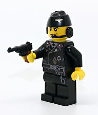 World War German Panzer Tank Commander Minifigure made with real LEGO(R) minifig