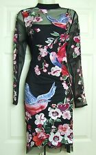 Matthew Williamson WINTER BIRD Impreziosito Turno Party Dress Sz 14 BNWT RRP £ 250