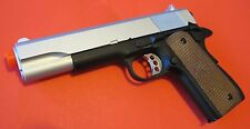 Metal Body/Magazine Airsoft Spring Pistol 1911 Open Ejection Port, Hammer Moves
