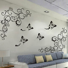 New Butterfly Flower Art Living Room DIY Removable Wall Sticker Decal Home Decor