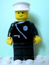LEGO Minifig cop013 @@ Police - Zipper with Badge, White Hat 4010 6676 6681