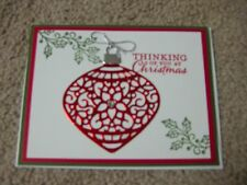 Stampin' Up Handmade Greeting Card Christmas Ornament in Red