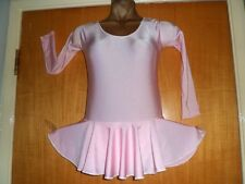 BABY PINK LYCRA/ATTACHED SKIRT/SLEEVES/BALLET/FREESTYLE DANCE/7/9