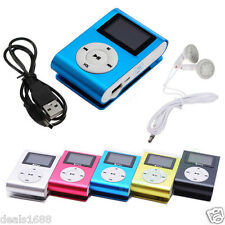 USB Clip MP3 Player Mini LCD Screen Support 16GB Micro SD TF Card Reader Gift