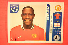 PANINI CHAMPIONS LEAGUE 2011/12 N 154 WELBECK MAN UNITED WITH BLACK BACK MINT!!