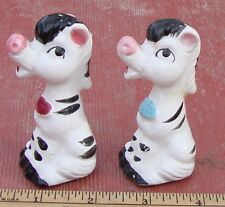 Vintage Zebras? Horses? Salt and Pepper Shakers, Ceramic