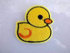 Yellow Duck Cute Childs Baby Emboridered Iron sew on patch badge motif