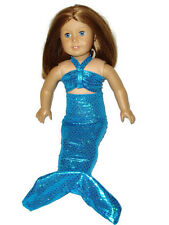 "Teal Mermaid Costume Fits American girl dolls 18"" Doll Clothes"
